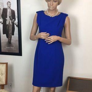 Calvin Klein Electric Blue Sheath Dress